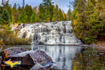 Michigan Waterfalls Bond Falls Autumn Reflection Paulding, Michigan Landscape Photography