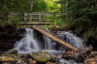 Upper Chapel Falls Autumn Photo Michigan's Upper Peninsula Photography Images