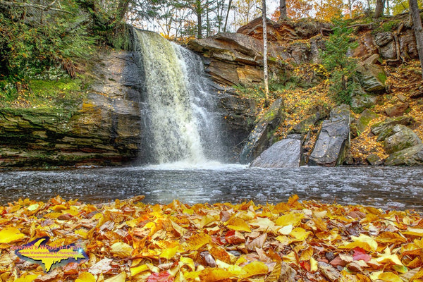 Michigan Landscape Photography Hungarian Falls Autumn Colors Keweenaw Peninsula Photos