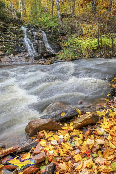 Michigan Photography A small waterfalls up by Hungarian Falls Autumn Colors Keweenaw Peninsula Photos