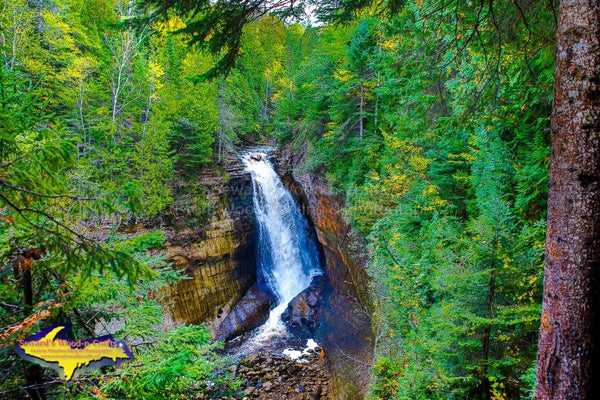 Michigan's Upper Peninsula Photos Pictured Rocks Miners Falls Image For Sale Great Prices