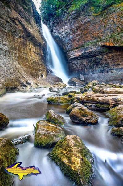 Michigan Photography Pictured Rocks Miners Waterfalls Photo For Sale