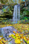 Michigan Waterfalls Autumn Colors at Scott Falls near Munising, Michigan
