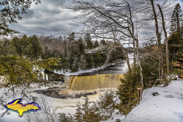 Upper Tahquamenon Falls Winter Image Michigan's Upper Peninsula Photo For Sale