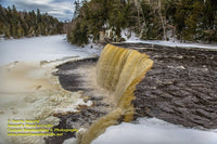 Upper Tahquamenon Waterfalls Winter Michigan Royalty Free Stock Images