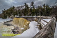 Upper Tahquamenon Falls Winter Image Michigan's Upper Peninsula Photos