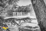 Upper Tahquamenon Falls Black & White -0820