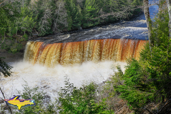 Michigan Landscape Photography Upper Tahquamenon Waterfalls Spring Photos