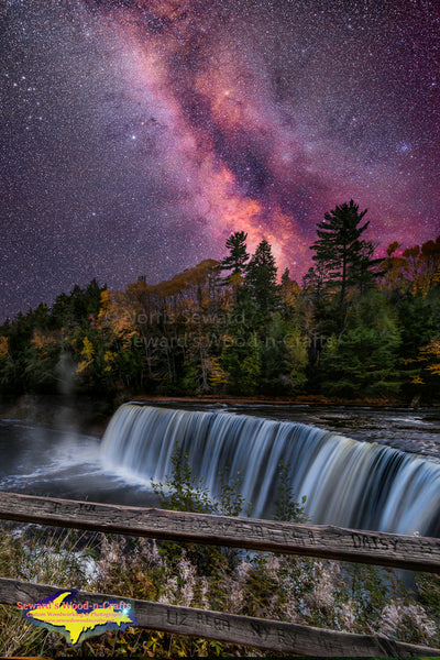 Michigan Waterfalls Upper Tahquamenon Falls and the Milky Way Galaxy
