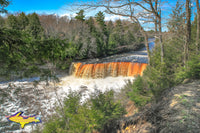 Michigan Landscape Photography Upper Tahquamenon Waterfalls Springtime Photos