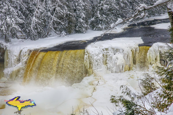 Michigan Landscape Photography Upper Tahquamenon Waterfalls Michigan Winter Photos