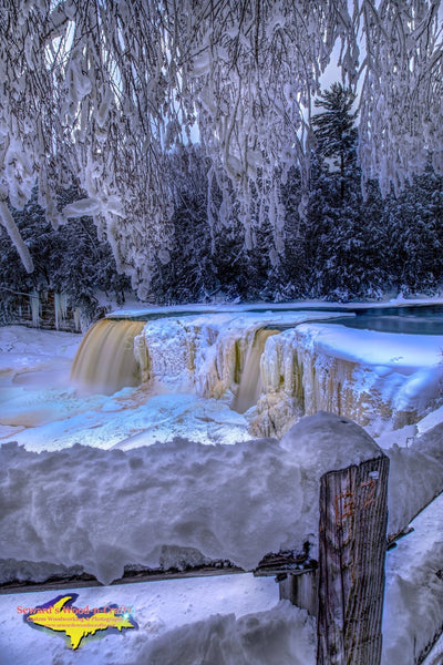 Upper Tahquamenon Waterfalls Winter Photos