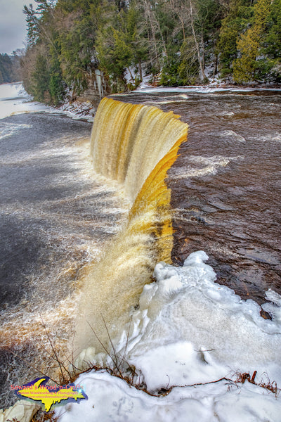 Michigan Landscape Photography Winter at Upper Tahquamenon Waterfalls