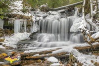 Michigan Waterfalls Wagner Falls Winter Munising Michigan Pictured Rocks Photos