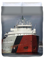 Auther M. Anderson Great Lakes Freighter Duvet Cover.  Great Lakes Fleet Freighter Gifts, Collectibles, Home/Bedroom Marine Decor for Boat Nerds