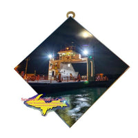 Sugar Island Ferry in the Moonlight Photo Tile Wall Art Sault Ste. Marie, Michigan