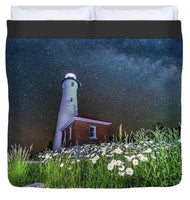 Crisp Point Lighthouse Photo Duvet Cover Yooper Gifts King Size