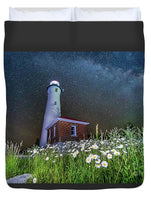 Crisp Point Lighthouse Photo Duvet Cover Home Bed Decor Queen Size