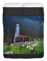 Crisp Point Lighthouse Photo Duvet Cover Bed Covers Full Size