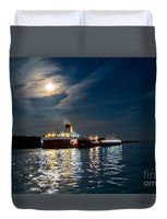Roger Blough Lake Freighter Great Lakes Fleet Duvet Cover. Great Lakes Freighter Photo Gifts, Collectibles, Home/Bedroom Decor For Boat Fans