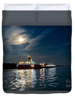 Roger Blough Lake Freighter Great Lakes Fleet Duvet Cover. Great Lakes Freighter Gifts, Collectibles, Home/Bedroom Decor For Boat Fans