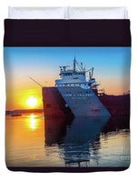 Lake Freighter Cason Callaway Duvet Covers For Boat Nerd Fans