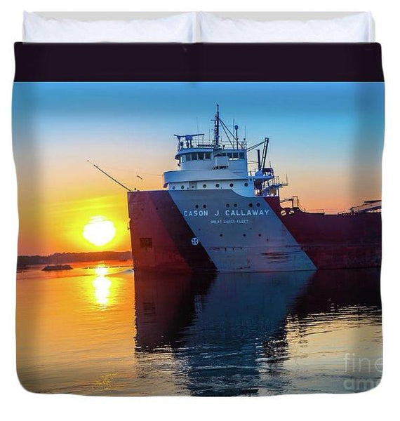 Great Lake Freighter Cason Callaway Duvet Covers For Boat Fans