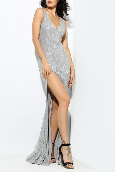 9a258ead8a4 121.99 USD Select optionsSelect options Naina Grey Maxi Dress ...