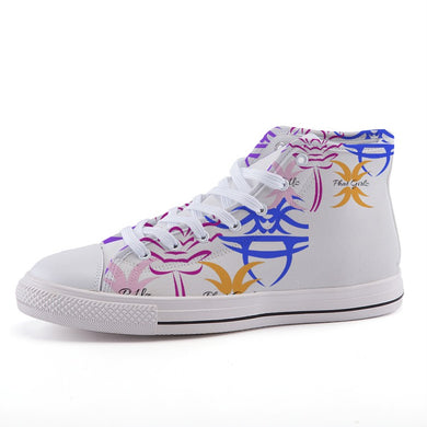 Custom and Sassy High-top Unisex canvas shoes
