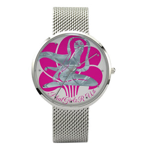 Custom and Casual Unisex Waterproof Quartz Watch With a Stainless Steel Band - phat girlz r uz new and resale shop for plus size