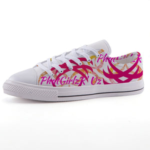Custom and Casual Unisex Low-top canvas shoe