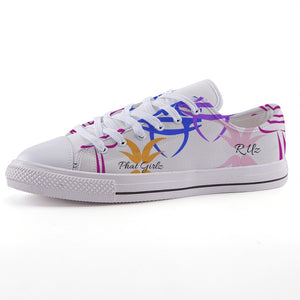 Custom and Sweet Low-top Unisex canvas shoes
