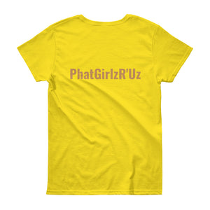 Custom and Colorful Women's short sleeve 100% Cotton t-shirt - phat girlz r uz new and resale shop for plus size