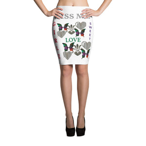 Custom and Sassy Colorful elastic waist Pencil Skirt - phat girlz r uz new and resale shop for plus size