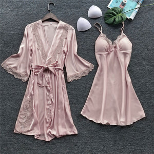 Women Sexy Sleepwear Lace Nightdress