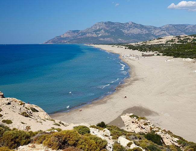 Beautiful beach sites zoned for construction in Mediterranean's Antalya