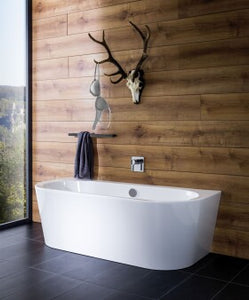 Almost like freestanding: Wall-mounted bathtubs