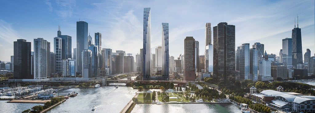 SOM unveils two-tower proposal for former chicago spire site