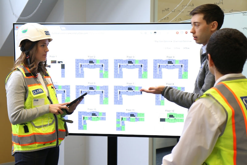 A jobsite dashboard is helping Clark Construction