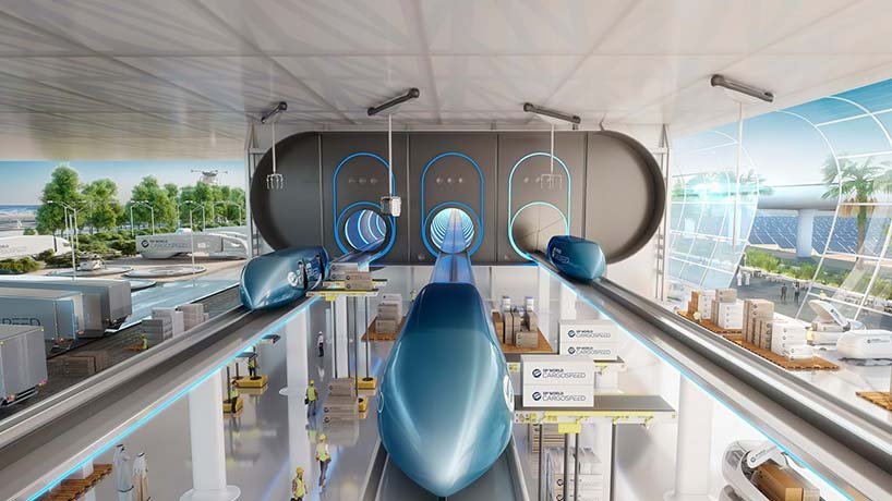 foster + partners and virgin hyperloop one announce shipping loop collaboration