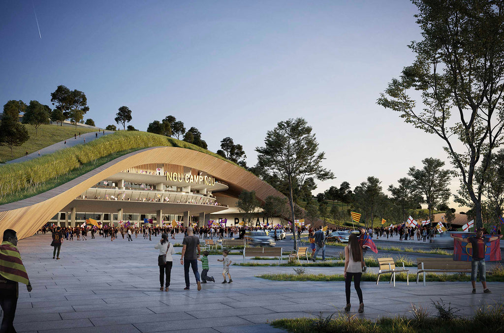 ON-A reveals park that will swaddle Barcelona's Camp Nou stadium