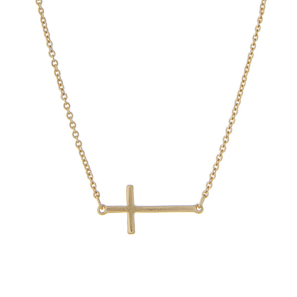Horizontal Cross Pendant