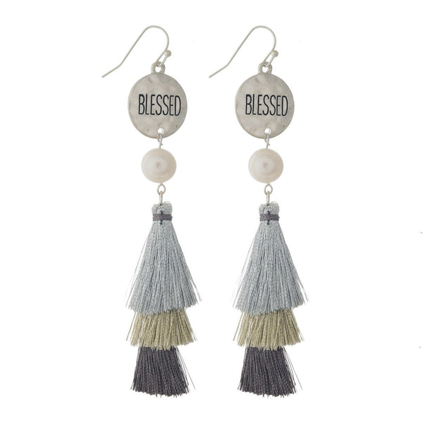 Blessed Tassel Earrings