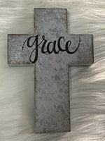 Metal Cross With Grace