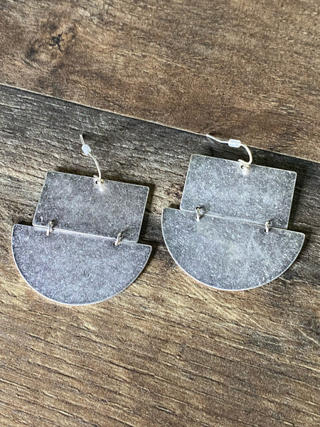 Metal Geometric Earrings