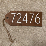 Wooden Hanger Featuring WR Zip Code