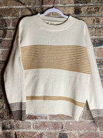 Mixed Stripe Knit Sweater