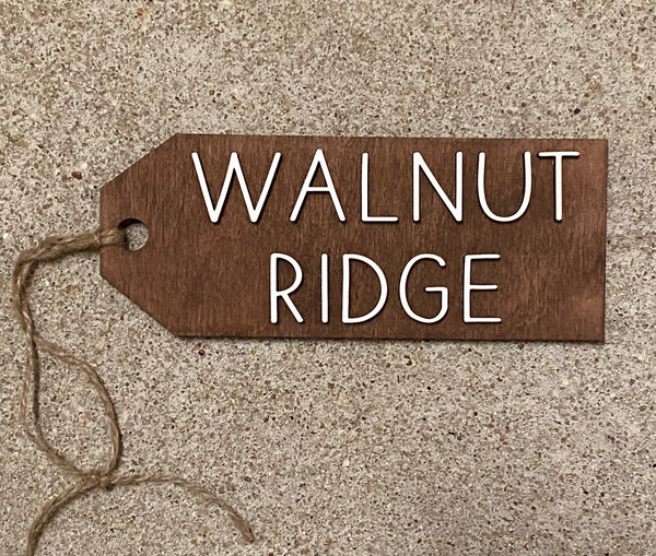 Wooden Hanger Featuring Walnut Ridge