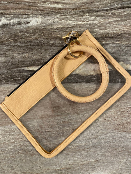Beige Wristlet Key Ring