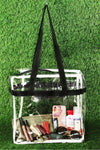 Clear Stadium Tote Bag With Black Straps